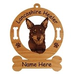 Lancashire Heeler Head Ornament Personalized with Your Dog's Name